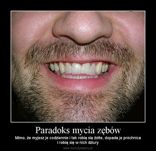 Paradoks mycia zębów