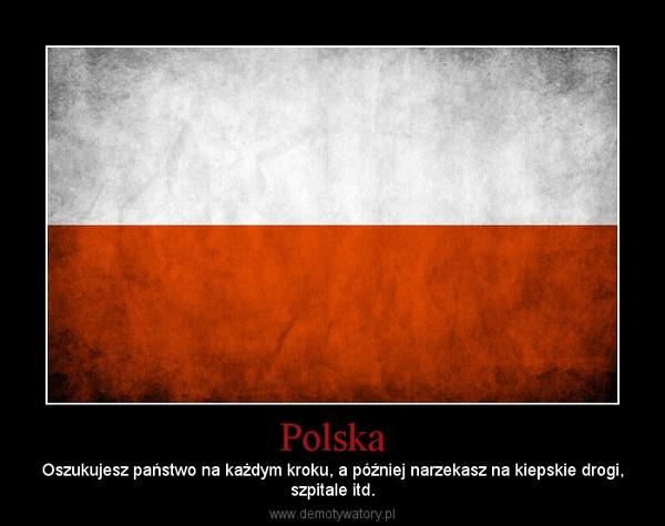 Polska – Oszukujesz państwo na każdym kroku, a później narzekasz na kiepskie drogi,szpitale itd.