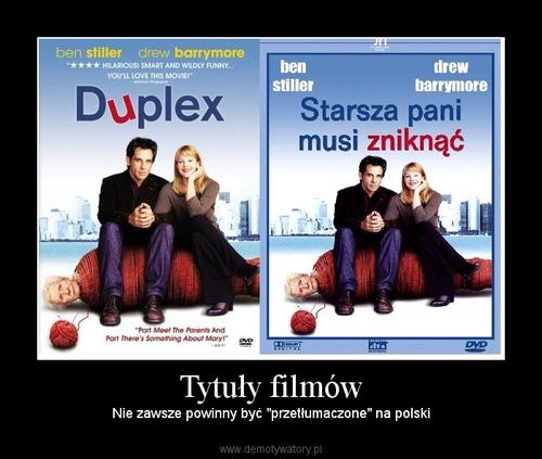 Tytuły filmów