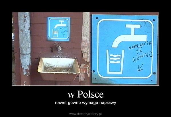 w Polsce – nawet gówno wymaga naprawy
