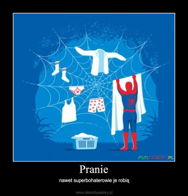 Pranie – nawet superbohaterowie je robią
