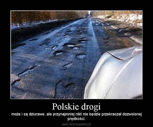 Polskie drogi – może i są dziurawe, ale przynajmniej nikt nie będzie przekraczał dozwolonejprędkości.