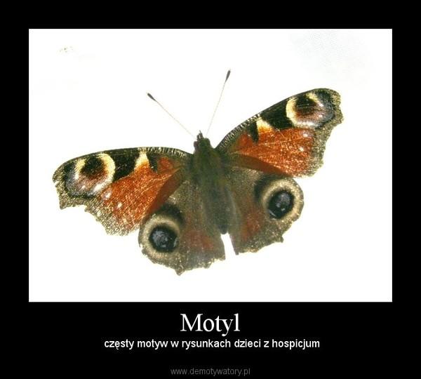 Motyl –  częsty motyw w rysunkach dzieci z hospicjum