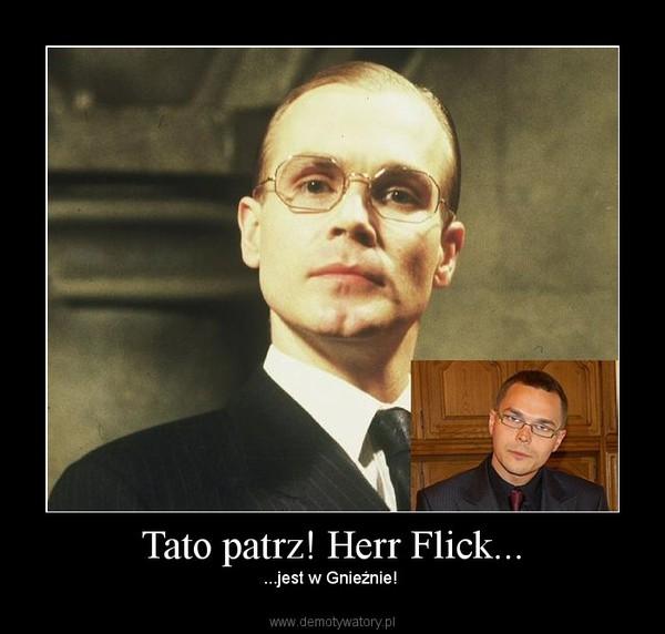 Tato patrz! Herr Flick... – ...jest w Gnieźnie!