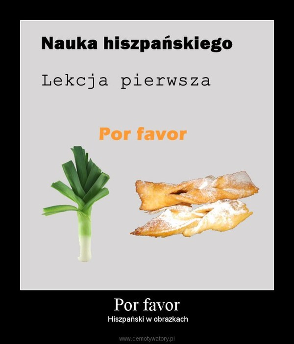 Por favor –  Hiszpański w obrazkach