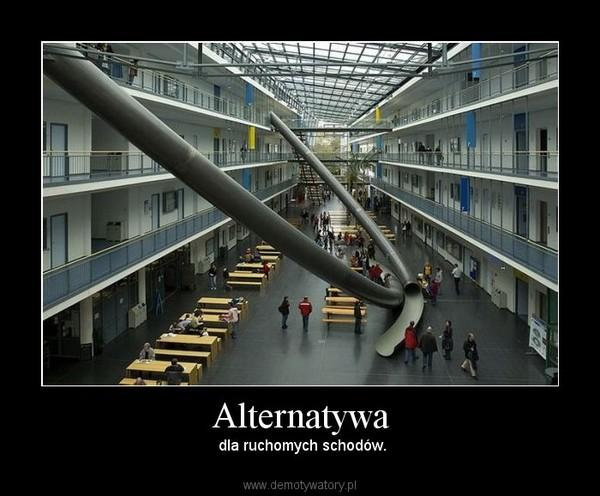 Alternatywa – dla ruchomych schodów.