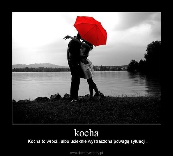 kocha – Kocha to wróci.. albo ucieknie wystraszona powagą sytuacji.