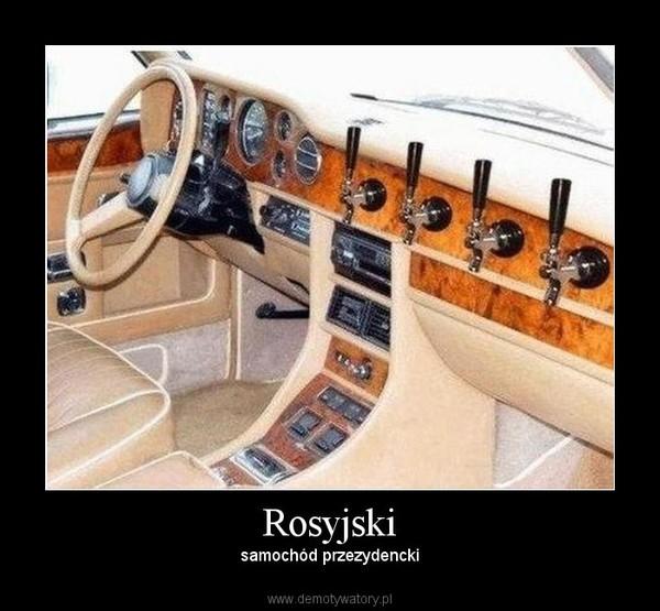 Rosyjski – samochód przezydencki