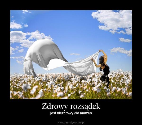 Zdrowy rozsądek – jest niezdrowy dla marzeń.