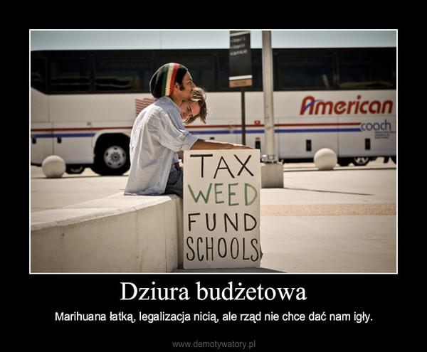 Dziura budżetowa – Marihuana łatką, legalizacja nicią, ale rząd nie chce dać nam igły.