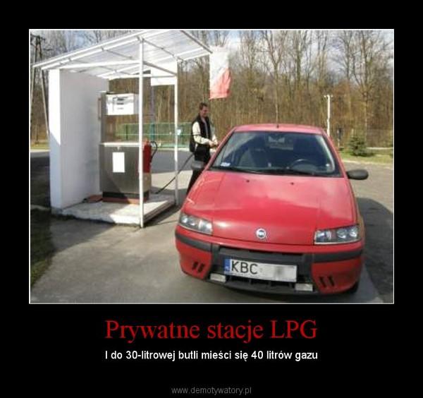 Prywatne stacje LPG – I do 30-litrowej butli mieści się 40 litrów gazu