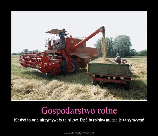 Gospodarstwo rolne – Kiedyś to ono utrzymywało rolników. Dziś to rolnicy muszą je utrzymywać