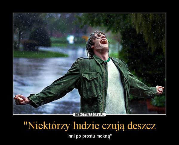 """""""Niektórzy ludzie czują deszcz – Inni po prostu mokną"""""""