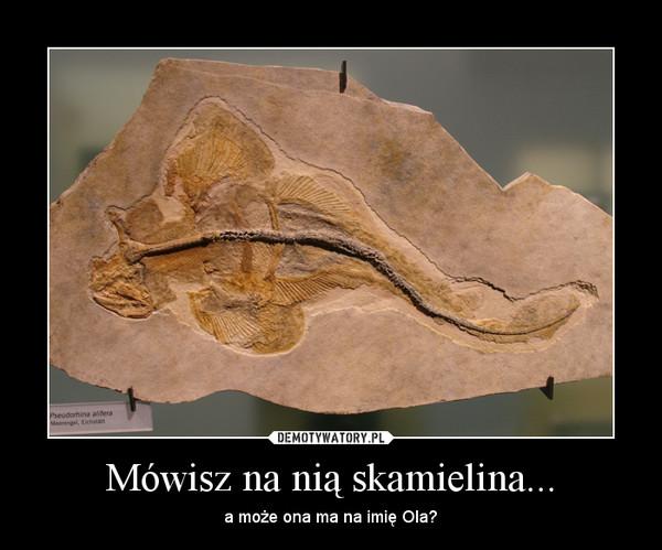 Mówisz na nią skamielina... – a może ona ma na imię Ola?