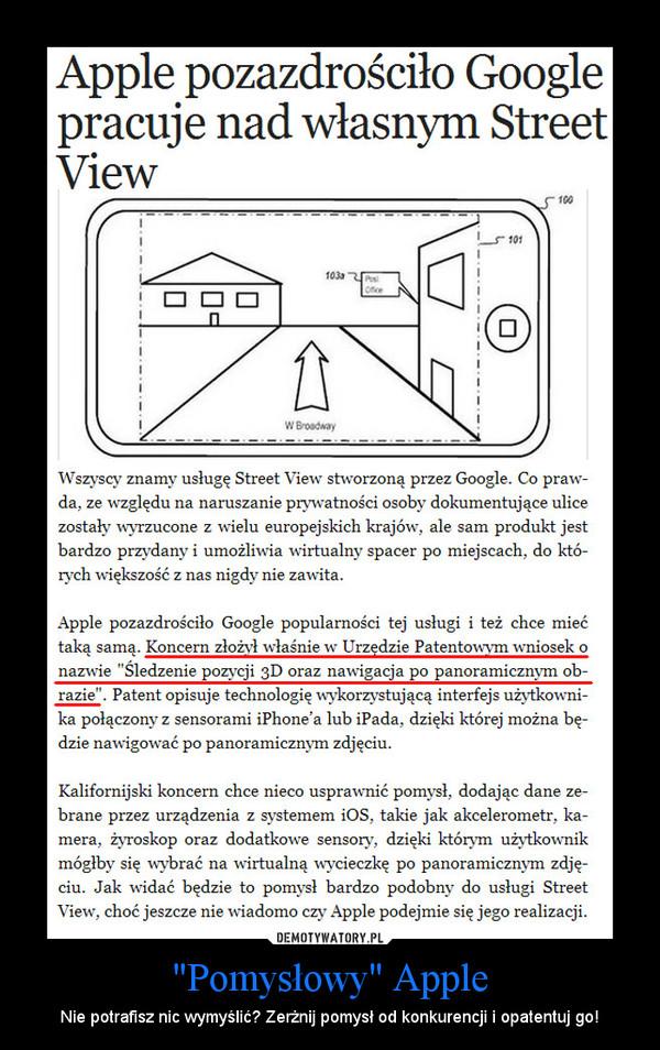 """""""Pomysłowy"""" Apple – Nie potrafisz nic wymyślić? Zerżnij pomysł od konkurencji i opatentuj go!"""
