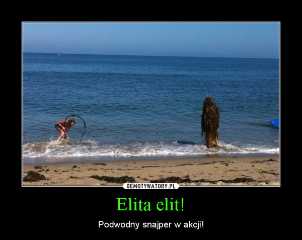 Elita elit! – Podwodny snajper w akcji!