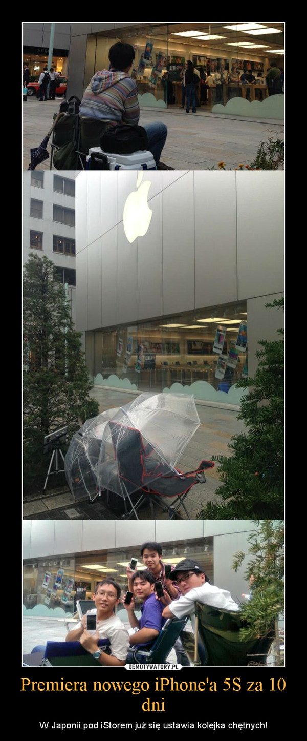 Premiera nowego iPhone'a 5S za 10 dni – W Japonii pod iStorem już się ustawia kolejka chętnych!