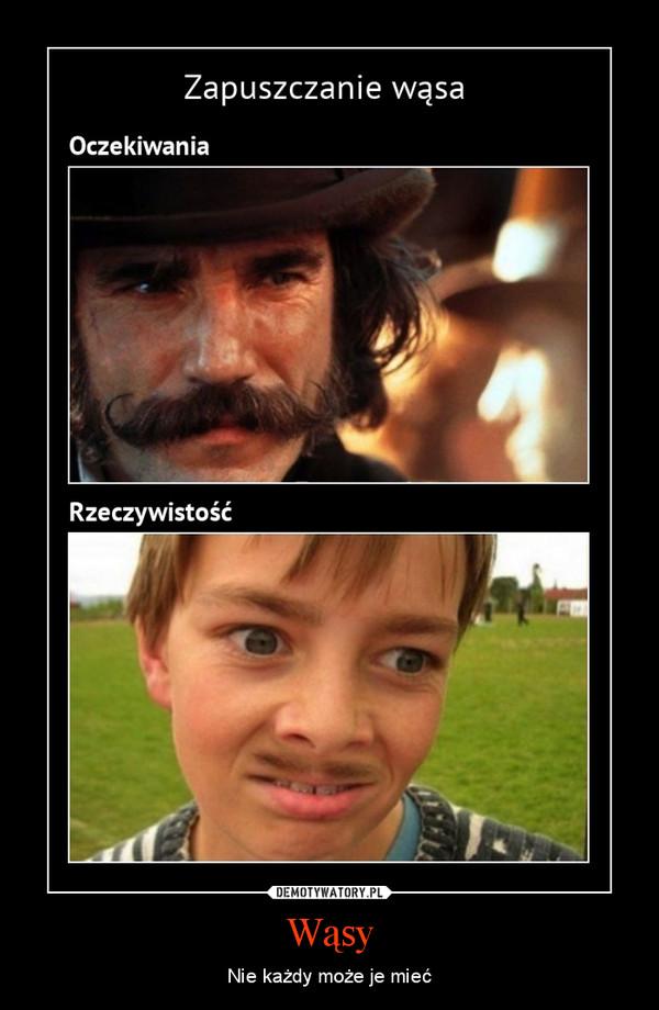 Wąsy – Nie każdy może je mieć