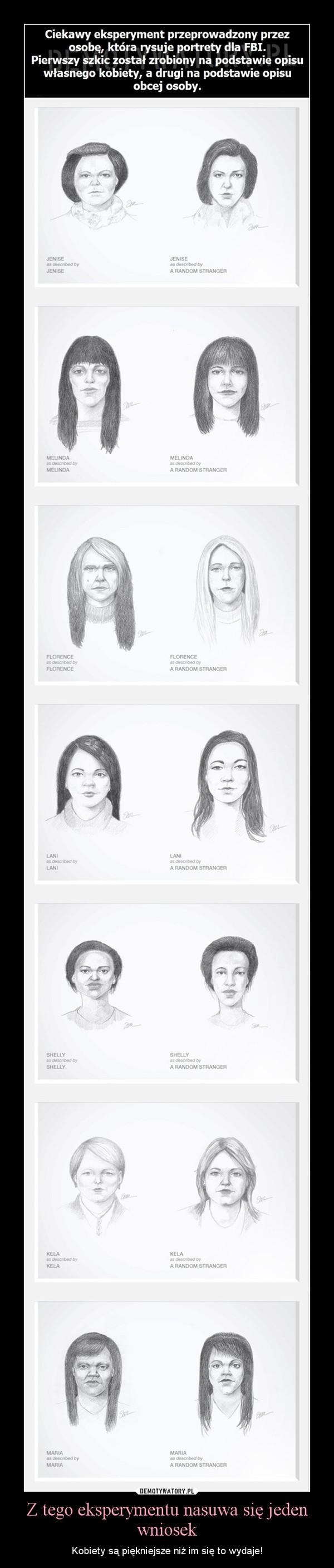 Z tego eksperymentu nasuwa się jeden wniosek – Kobiety są piękniejsze niż im się to wydaje!