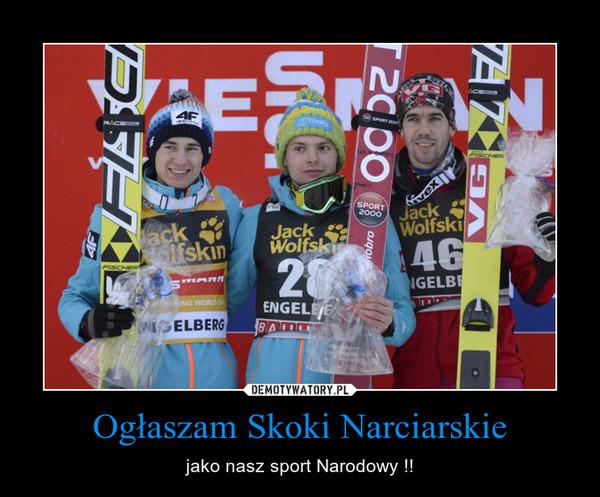 Ogłaszam Skoki Narciarskie – jako nasz sport Narodowy !!