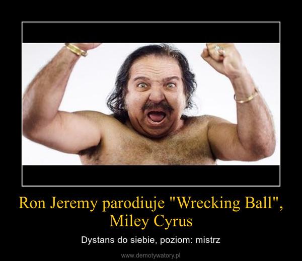 """Ron Jeremy parodiuje """"Wrecking Ball"""", Miley Cyrus – Dystans do siebie, poziom: mistrz"""