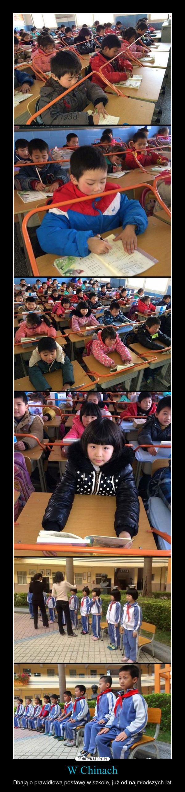 W Chinach – Dbają o prawidłową postawę w szkole, już od najmłodszych lat