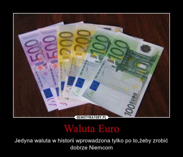 Waluta Euro – Jedyna waluta w historii wprowadzona tylko po to,żeby zrobić dobrze Niemcom