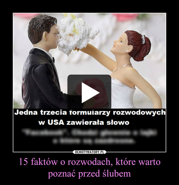 15 faktów o rozwodach, które warto poznać przed ślubem –
