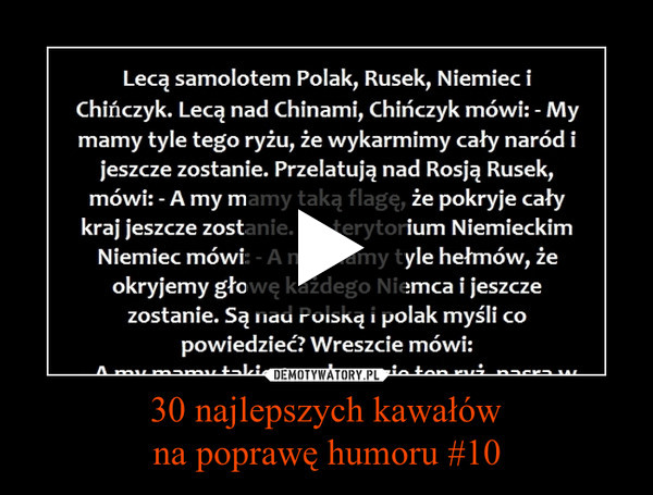 30 najlepszych kawałówna poprawę humoru #10 –