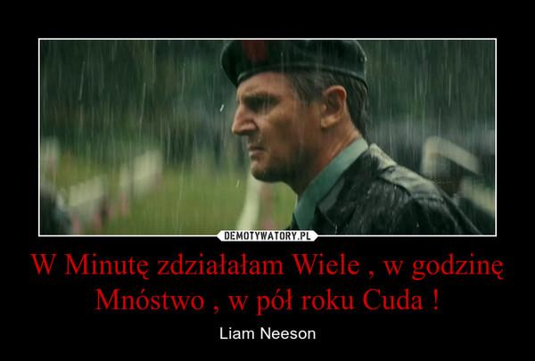 W Minutę zdziałałam Wiele , w godzinę Mnóstwo , w pół roku Cuda ! – Liam Neeson