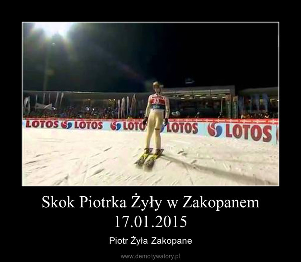 Skok Piotrka Żyły w Zakopanem 17.01.2015 – Piotr Żyła Zakopane