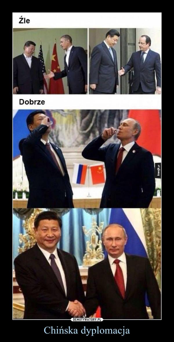 Chińska dyplomacja –