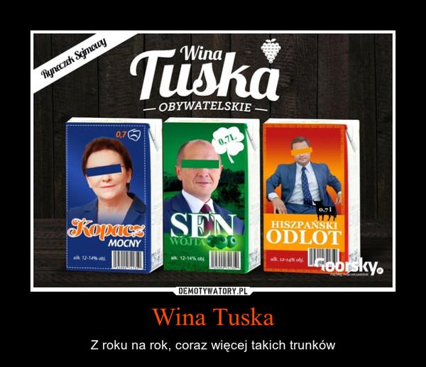 Wina Tuska – Z roku na rok, coraz więcej takich trunków
