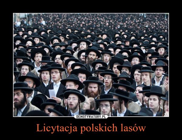 Licytacja polskich lasów –
