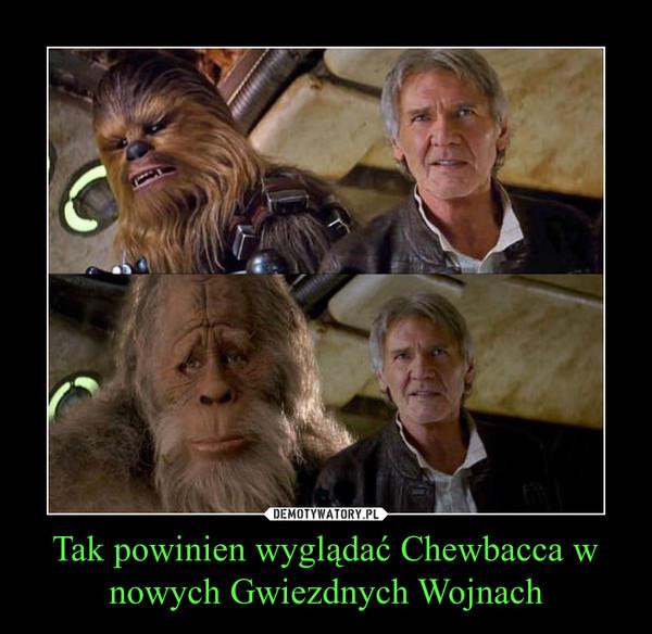 Tak powinien wyglądać Chewbacca w nowych Gwiezdnych Wojnach –