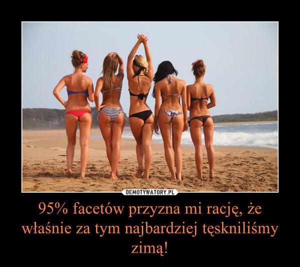 95% facetów przyzna mi rację, że właśnie za tym najbardziej tęskniliśmy zimą! –