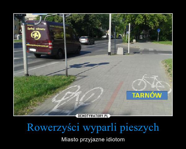 Rowerzyści wyparli pieszych – Miasto przyjazne idiotom