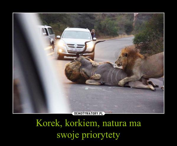 Korek, korkiem, natura maswoje priorytety –