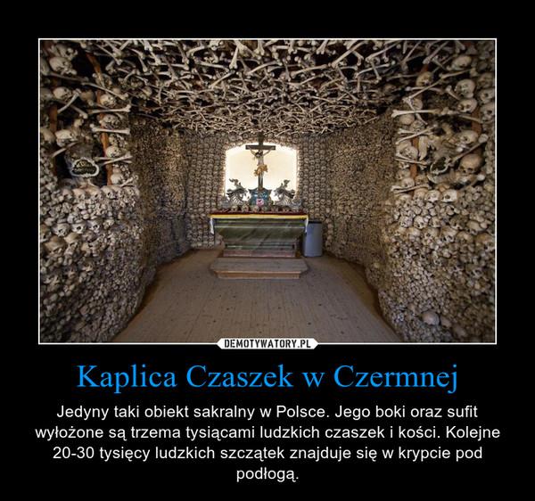 Kaplica Czaszek w Czermnej – Jedyny taki obiekt sakralny w Polsce. Jego boki oraz sufit wyłożone są trzema tysiącami ludzkich czaszek i kości. Kolejne 20-30 tysięcy ludzkich szczątek znajduje się w krypcie pod podłogą.