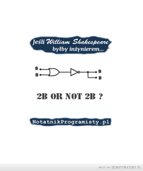 Jeśli William Szekspir byłby inżynierem... –
