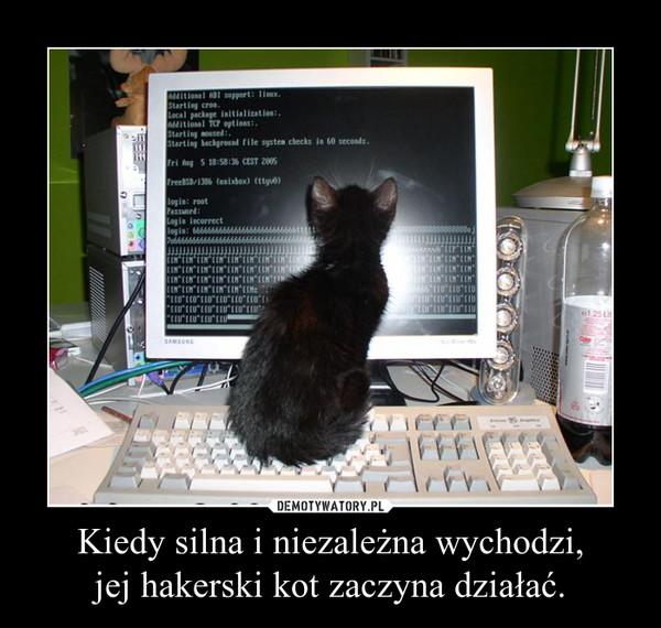 Kiedy silna i niezależna wychodzi,jej hakerski kot zaczyna działać. –