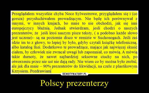 Polscy prezenterzy –