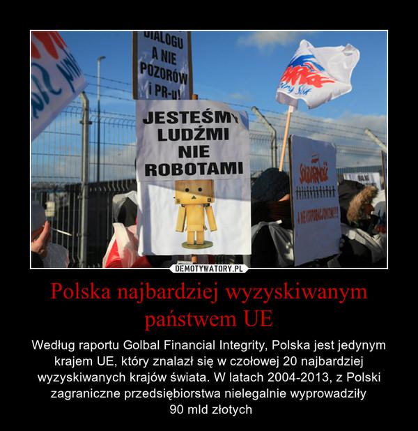 Polska najbardziej wyzyskiwanym państwem UE – Według raportu Golbal Financial Integrity, Polska jest jedynym krajem UE, który znalazł się w czołowej 20 najbardziej wyzyskiwanych krajów świata. W latach 2004-2013, z Polski zagraniczne przedsiębiorstwa nielegalnie wyprowadziły 90 mld złotych