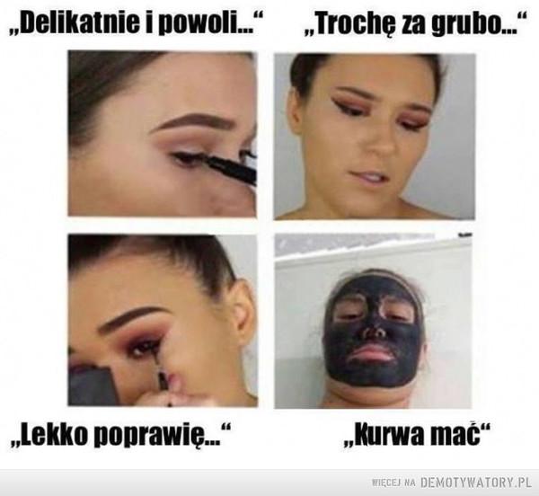 Zabawa z eyelinerem... –