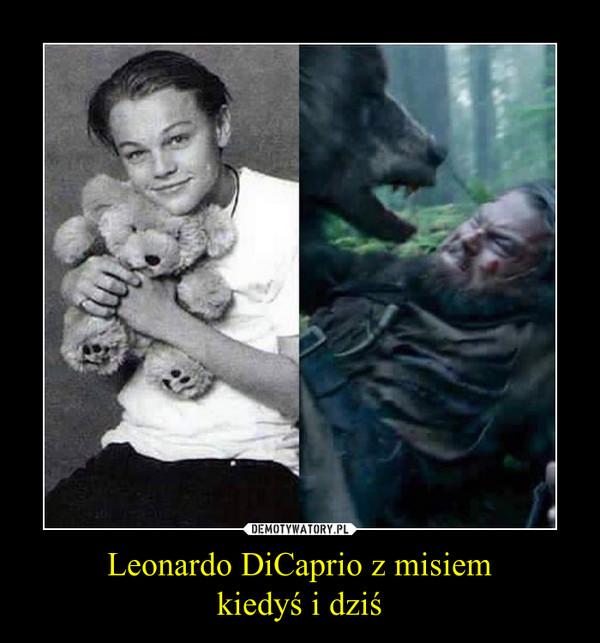 Leonardo DiCaprio z misiemkiedyś i dziś –