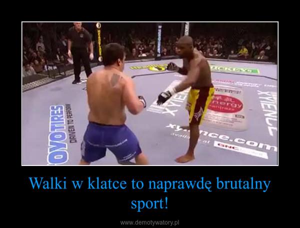 Walki w klatce to naprawdę brutalny sport! –