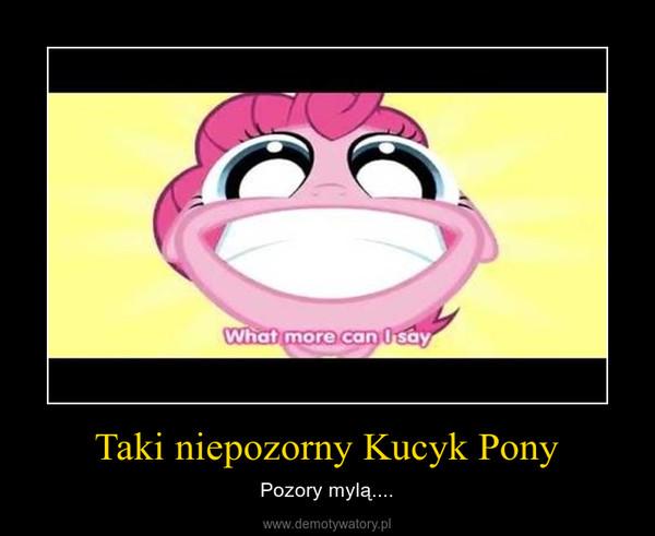 Taki niepozorny Kucyk Pony – Pozory mylą....