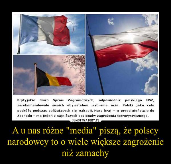 """A u nas różne """"media"""" piszą, że polscy narodowcy to o wiele większe zagrożenie niż zamachy –"""