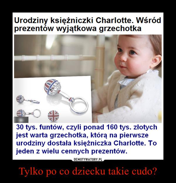 Tylko po co dziecku takie cudo? –