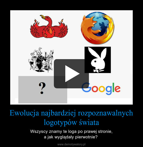 Ewolucja najbardziej rozpoznawalnych logotypów świata – Wszyscy znamy te loga po prawej stronie,a jak wyglądały pierwotnie?